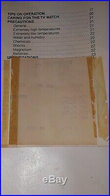 Vintage Seiko James Bond TV Chronograph Mens Watch T001-5019 Box Paperwork 1983