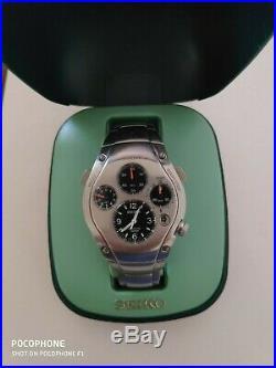 Vintage Seiko Kinetic Sportura 9t82-oa50 Mens Watch