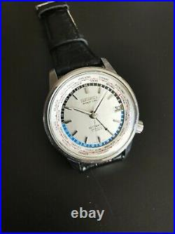Vintage Seiko World Time 1st 6217-7000 Tokyo Olympic Automatic Mens Watch Japan