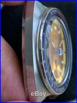 Vintage Stainless Seiko 6139-6005 Pogue Automatic Chronograph Gold Dial