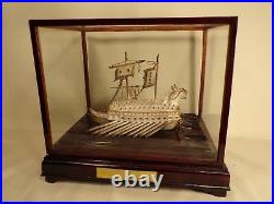 Vintage Sterling Silver Model Ship Japan Hand Made Admiral YI Turtle Ship