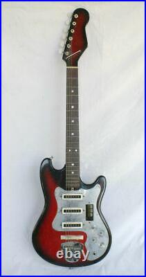 Vintage TEISCO Japanese Electric Guitar Unusual Four Switch Design RARE