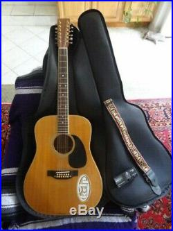 Vintage Takamine F400S 12 String Acoustic Guitar Dated APR 1978 Soft Case F-400S