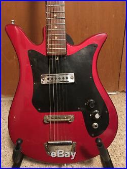 Vintage Teisco Del Rey Tulip Guitar- Single coil pickup, solid body