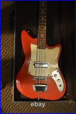 Vintage Teisco Kawai Heit Short Scale Bass Guitar Japan with case VIDEO