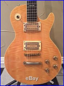 Vintage Univox Gimme Les Paul Copy 70s Japan Flamed Maple Top