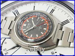 Vintage V RARE SEIKO WORLD TIME 6117 AUTOMATIC WATCH BLACK DIAL 6117-6400 2