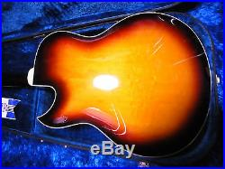 Vintage Yamaha AE-11 ae11 Hollow Body Electric Guitar withcase Japan 11-6