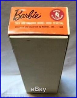 Vntg Barbie Blonde #5 Ponytail Doll withOrig Box LinerWrist TagStandS/S+ NM