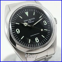 ZENO WATCH BASEL ZN-001 Zeno Explorer Homage ZEX Vintage Automatic Watch & Box